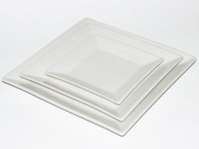 Service de table - Ensemble de 3 assiettes blanches unies - 3 tailles
