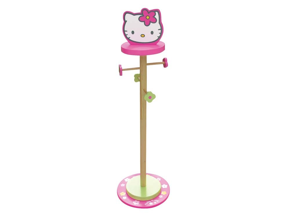 porte manteau enfant en laqu hello kitty rose et vert 53485. Black Bedroom Furniture Sets. Home Design Ideas