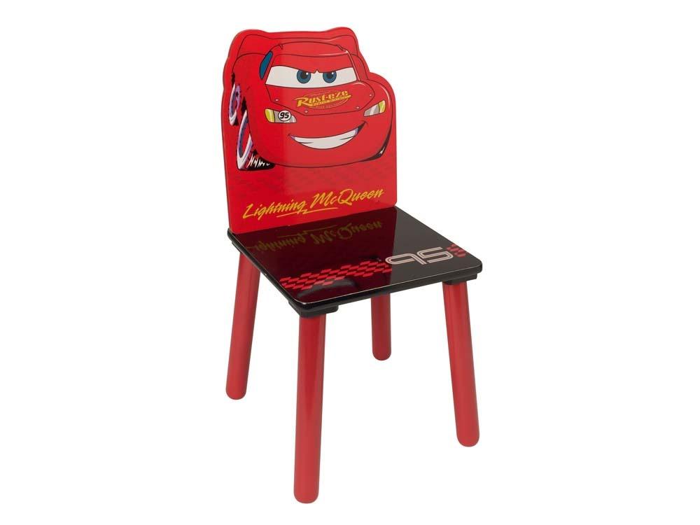 Chaise enfant en laqu cars rouge et noir 53457 - Chaise rouge et noir ...