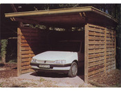 "Garage bois "" Provence Carport"" - 17.5 m² - 3.50 x 5.00 x 2.50 m - 30 mm"