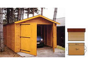 "Garage bois ""2000"" - 12.21 m² - 3.03 x 4.03 x 2.35 m - 21 mm"