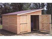 "Garage bois ""2001"" - 12.21 m² - 3.03 x 4.03 x 2.50 m - 21 mm"