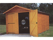 "Garage bois ""3003"" - 12.21 m² - 3.03 x 4.03 x 2.40 m - 21 mm"