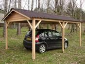 """Garage Bois """"Limousin"""" - 12.12 m² - 3.03 x 4.00 x 2.65 m"""