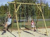 Portique bois - 4 agrès - H : 2.50m