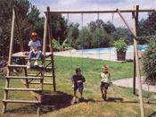Portique bois - 4 agrès - H : 2.50 m