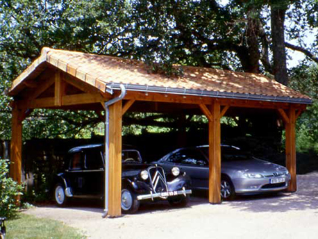 Garage bois for Garage exterieur 2 voitures bois