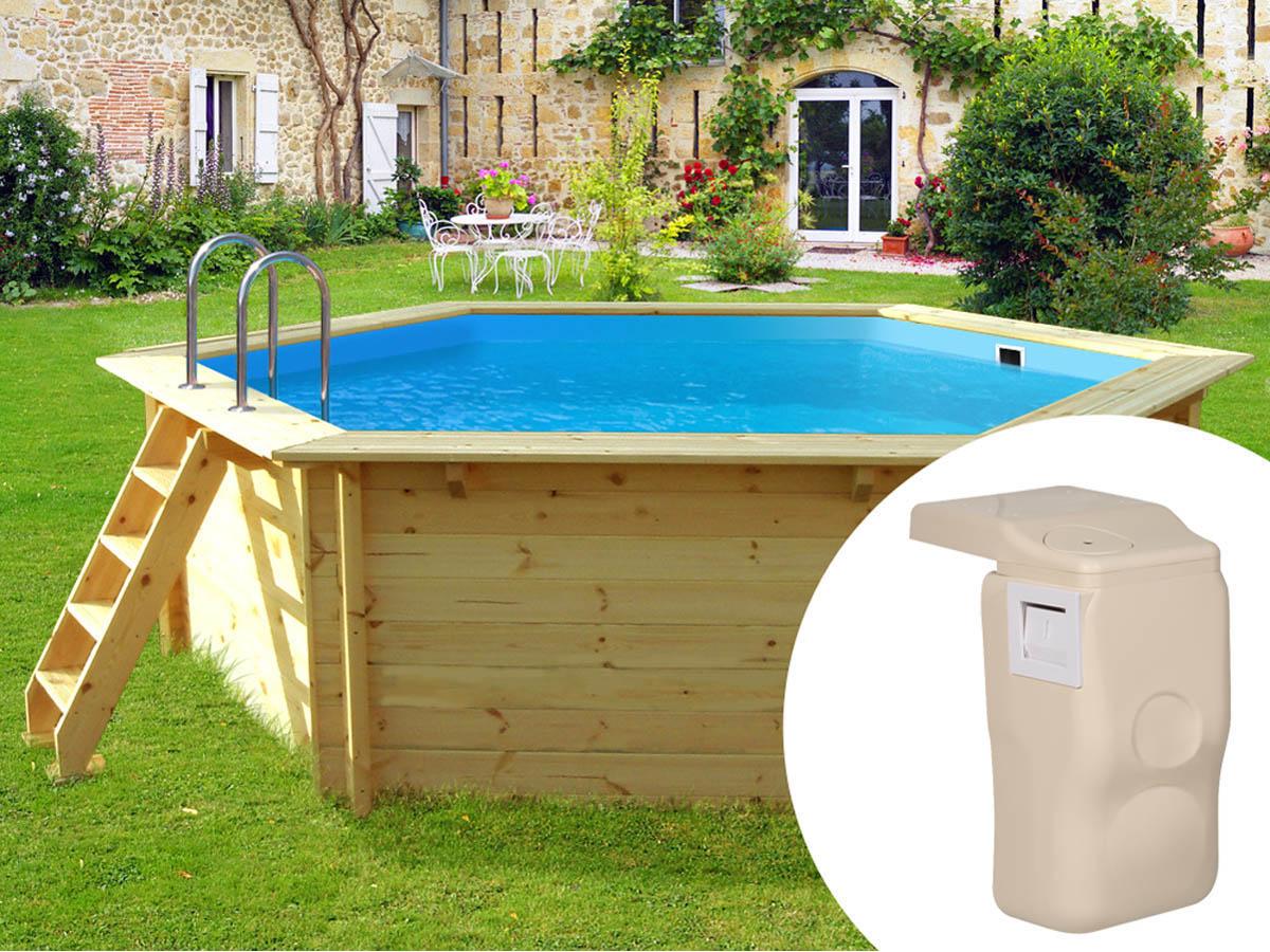 piscine bois avec kit hors-bord