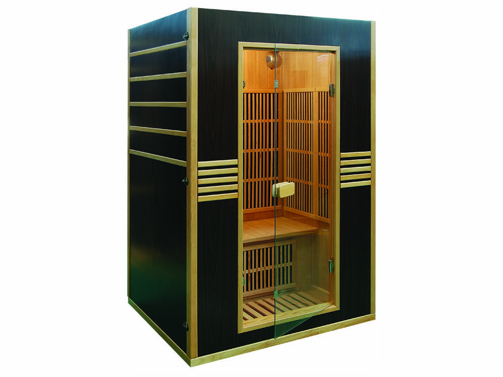 Cabine de sauna infrarouge oslo 2 places 120 x 105 x 190 cm - Avis sauna infrarouge ...