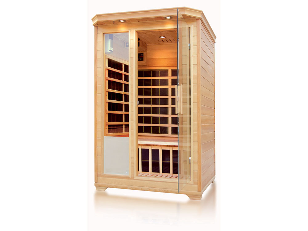 cabine de sauna infrarouge paju 2 places. Black Bedroom Furniture Sets. Home Design Ideas