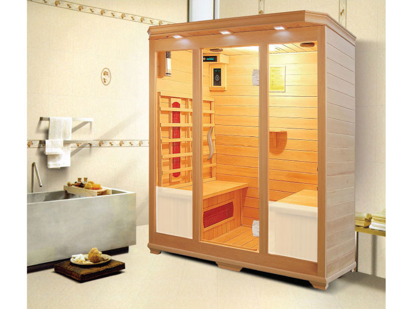cabine de sauna infrafrouge ismo avec chromotherap 53652. Black Bedroom Furniture Sets. Home Design Ideas