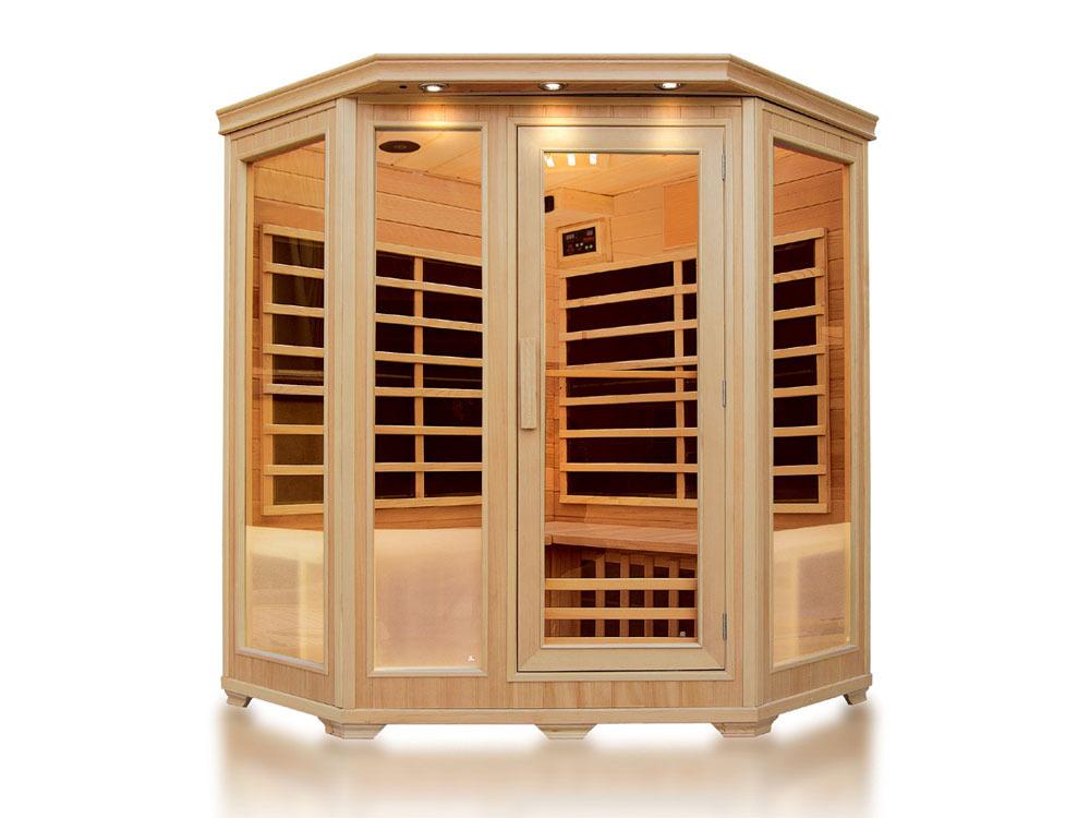 Cabine de sauna infrarouge helvi avec chromotherap 53569 - Cabine sauna infrarouge ...