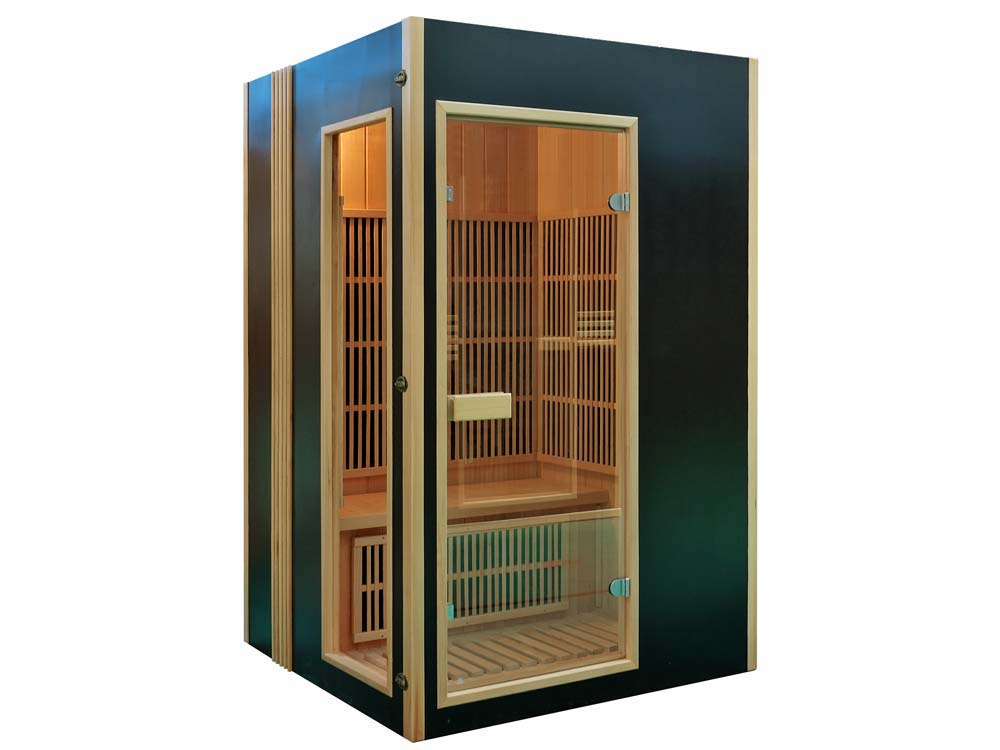 Cabine de sauna infrarouge malm 2 places 120 x 120 x 190 cm - Sauna infrarouge 2 places ...