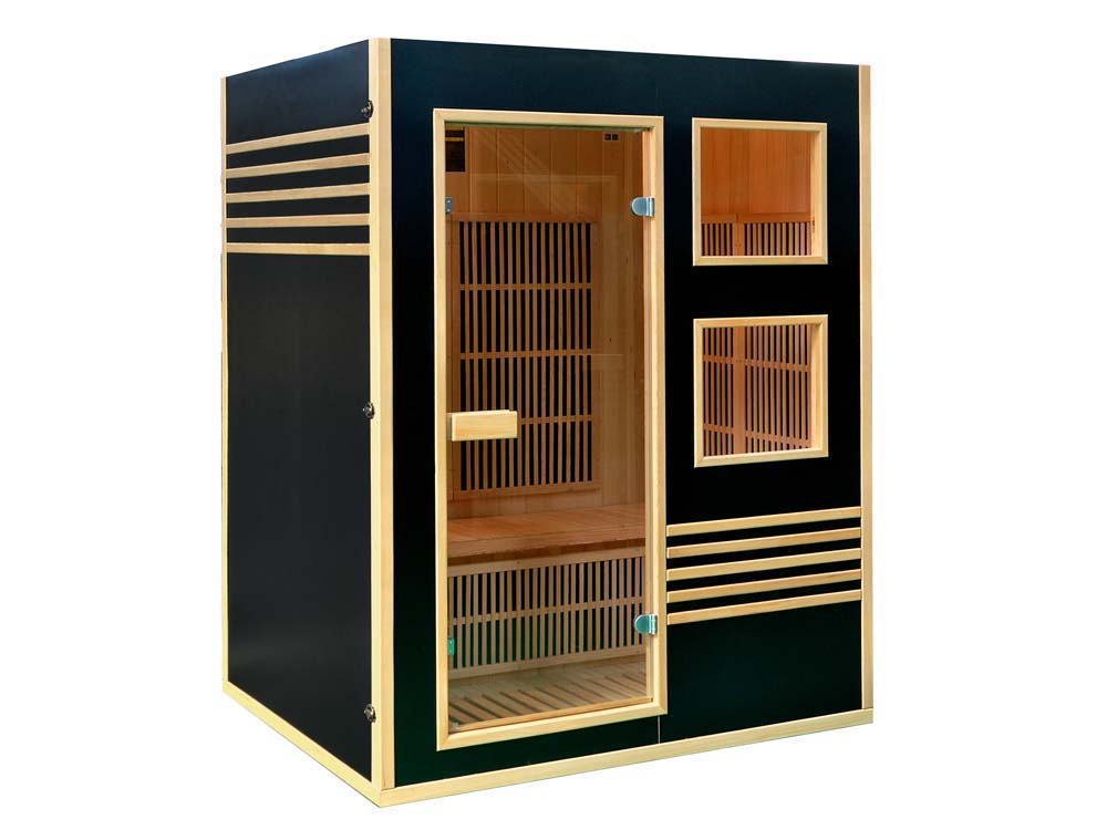 cabine de sauna infrarouge sweden 3 places 150 65116. Black Bedroom Furniture Sets. Home Design Ideas