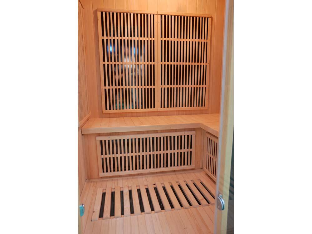 Cabine de sauna infrarouge finland avec chromother ebay - Sauna infrarouge bienfaits ...