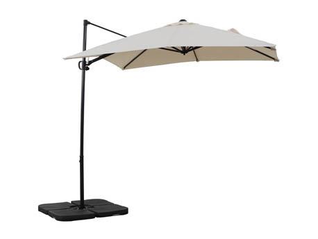 """Parasol jardin déporté Alu """"Sun 3"""" - Carré - 2.5 x 2.5 m - Ecru"""