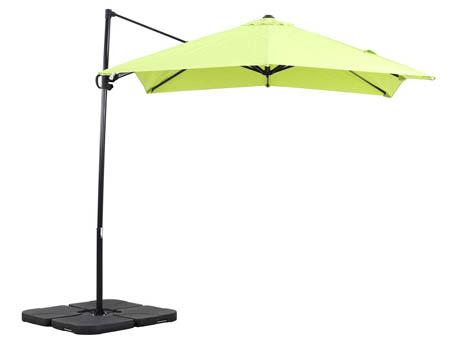 """Parasol jardin déporté Alu """"Sun 3"""" - Carré - 2.5 x 2.5 m - Vert"""