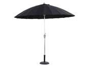"""Parasol jardin droit Alu """"Lili"""" - Style Japonais - Ø2.7m - Noir"""