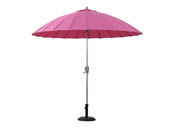 "Parasol jardin droit Alu ""Lili""- Ø2.7m - Fushia"