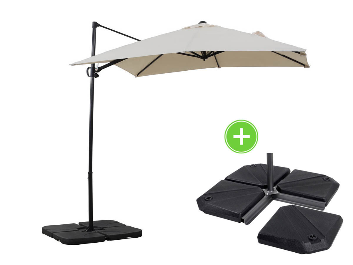 parasol jardin d port alu sun 3 carr 2 5 x 2 5 m. Black Bedroom Furniture Sets. Home Design Ideas