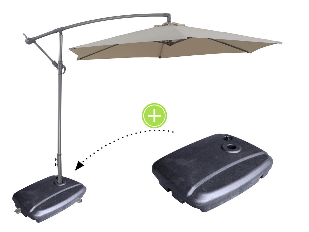 parasol jardin d port en aluminium ilios rond 3 m cru pied de parasol lestable 69477. Black Bedroom Furniture Sets. Home Design Ideas