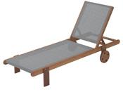 """Bain de Soleil en bois exotique """"Saïgon"""" - Maple - Gris"""
