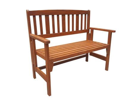 """Banc jardin en bois exotique Shanghaï - """"Maple"""" - Marron clair"""