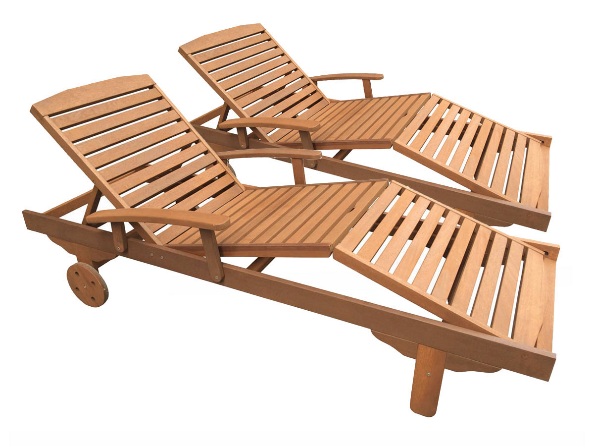 Chaise longue bois exotique for Chaise longue jardin prix