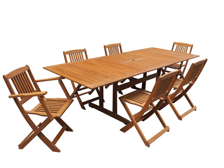 Salon de jardin bois - Table de salon de jardin en bois ...