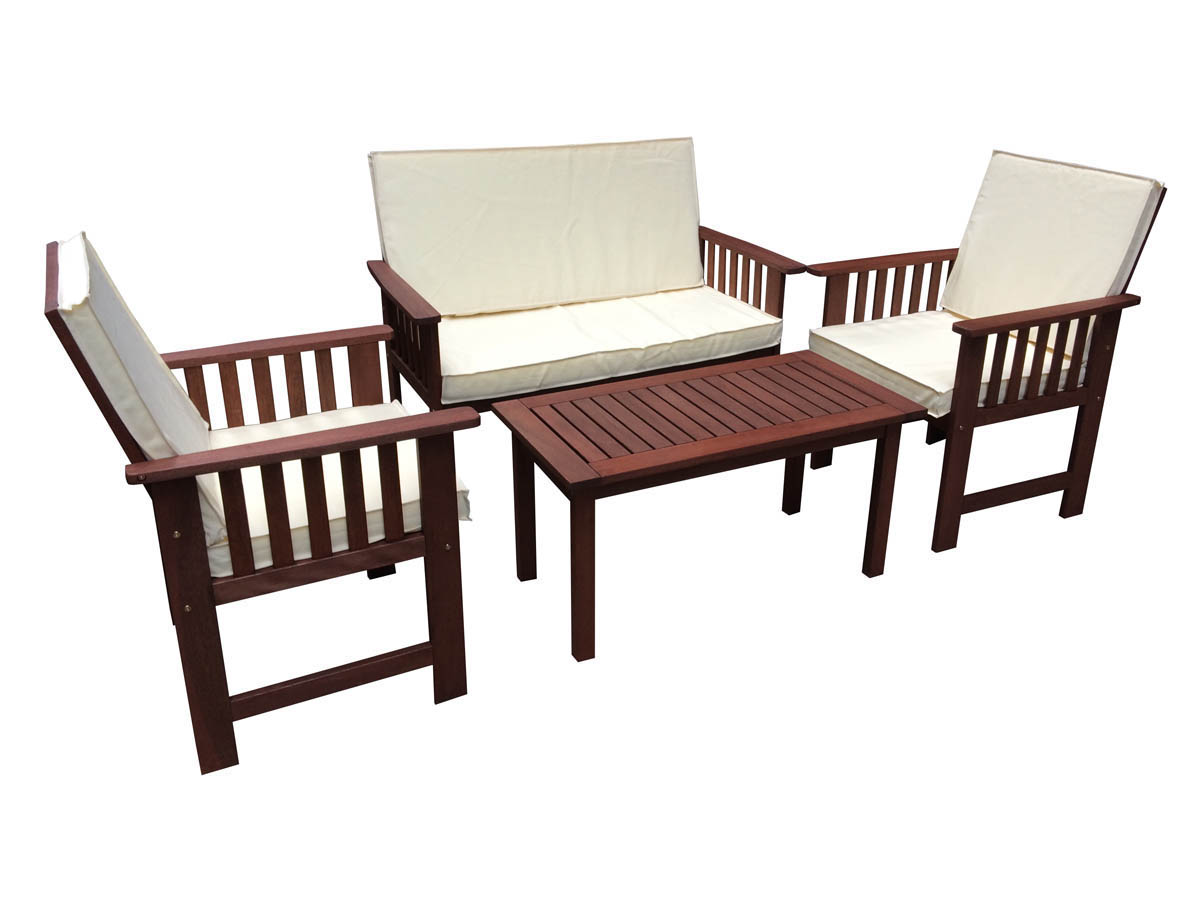 salon de jardin en bois exotique bangkok mahogany marron acajou 68300 68302. Black Bedroom Furniture Sets. Home Design Ideas
