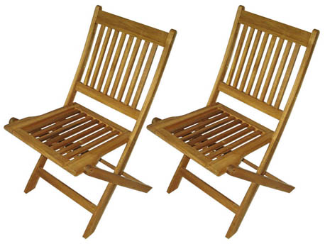 Lot de 2 chaises pliantes de jardin