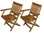 Lot de 2 fauteuils pliants de jardin