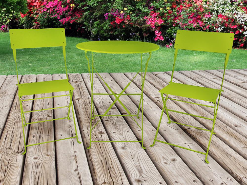 Mobilier Jardin Metal: Salon de jardin table extensible chaises en ...