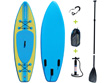"Paddle ""Blue water"" - 71 x 244 cm - Bleu/Jaune"