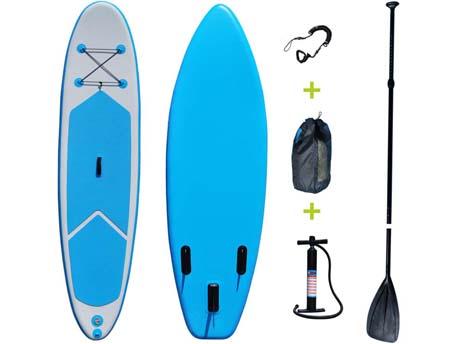 """Paddle """"Blue water 4"""" - 76 x 325 cm - Bleu/Blanc"""