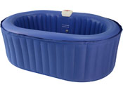 SPA GONFLABLE OVALE EN PVC - 4 PLACES - BLEU