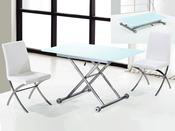 "Table repas rectangulaire ""Nov"" Blanc 120*70*75.5 cm"