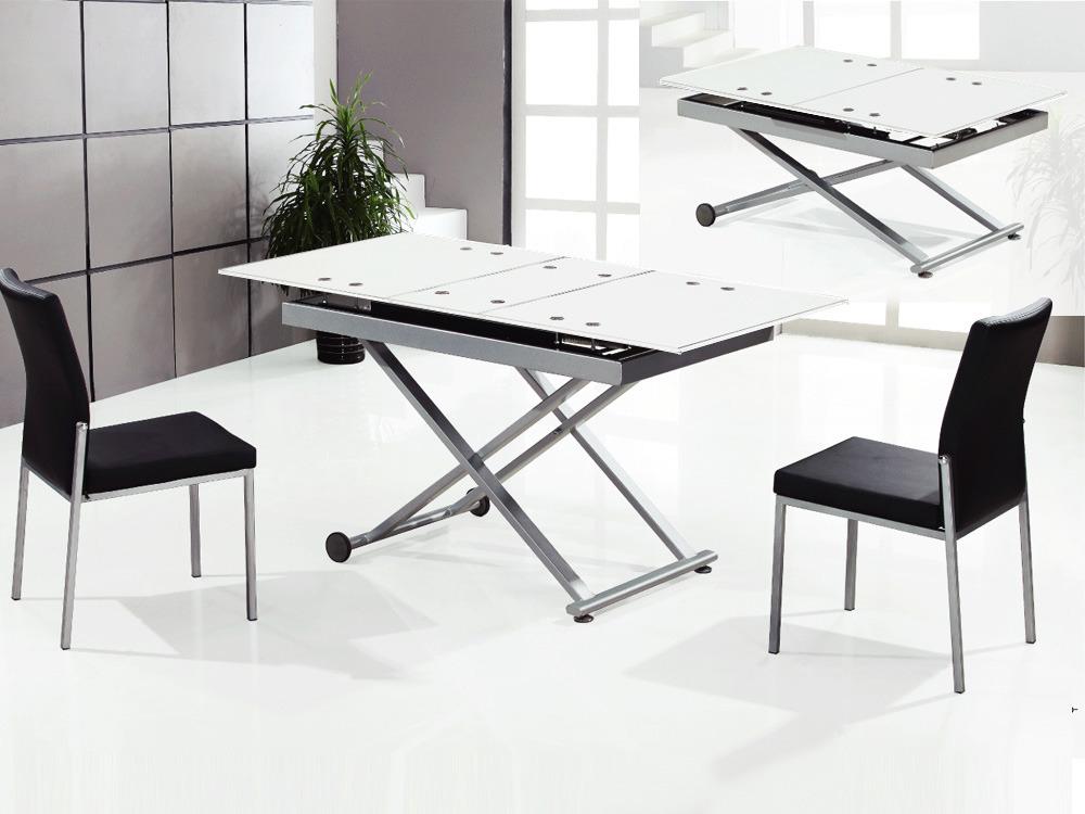 Table repas Nina - 150/120 x 75 x 75 cm - Blanc
