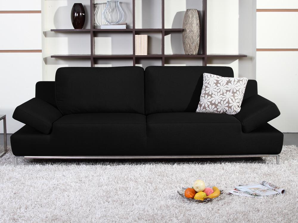 Canap fixe tissu teddy 3 places noir 54198 - Produit nettoyant canape tissu ...
