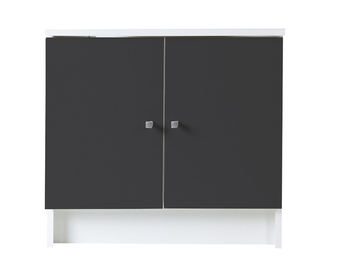 meuble de salle de bain sous lavabo deko anthracite 59cm. Black Bedroom Furniture Sets. Home Design Ideas
