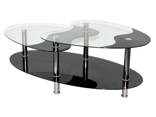Table basse 3 plateaux en verre 54369 54392 - Table basse 3 plateaux ...