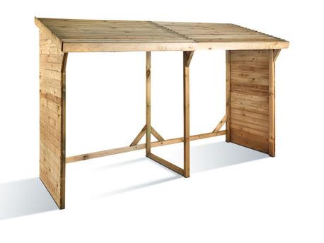 Abri bûches  - 3.08 m² - 2.80 x 1.10 x 1.85 m- 5 Stères