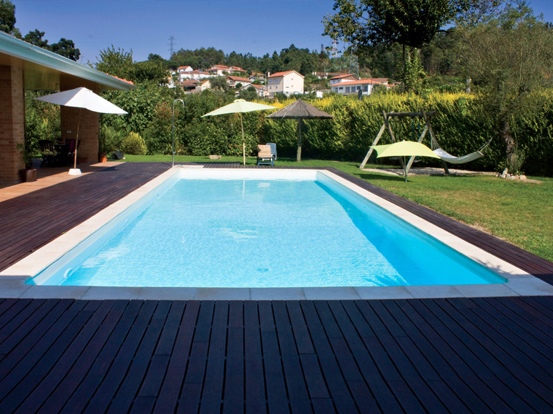 Piscine acier enterr e rectangle fond plat sunkit for Piscine jardin rectangle