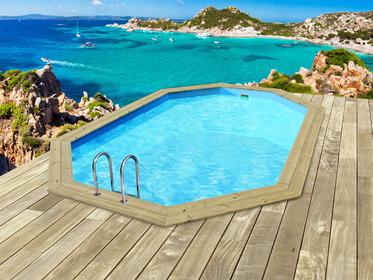 Piscine sur habitat et jardin abri s curit piscine for Promo piscine bois octogonale