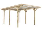 """Carport voiture toiture PVC """"Max"""" - 15.56 m² - 3.04 x 5.12 m"""