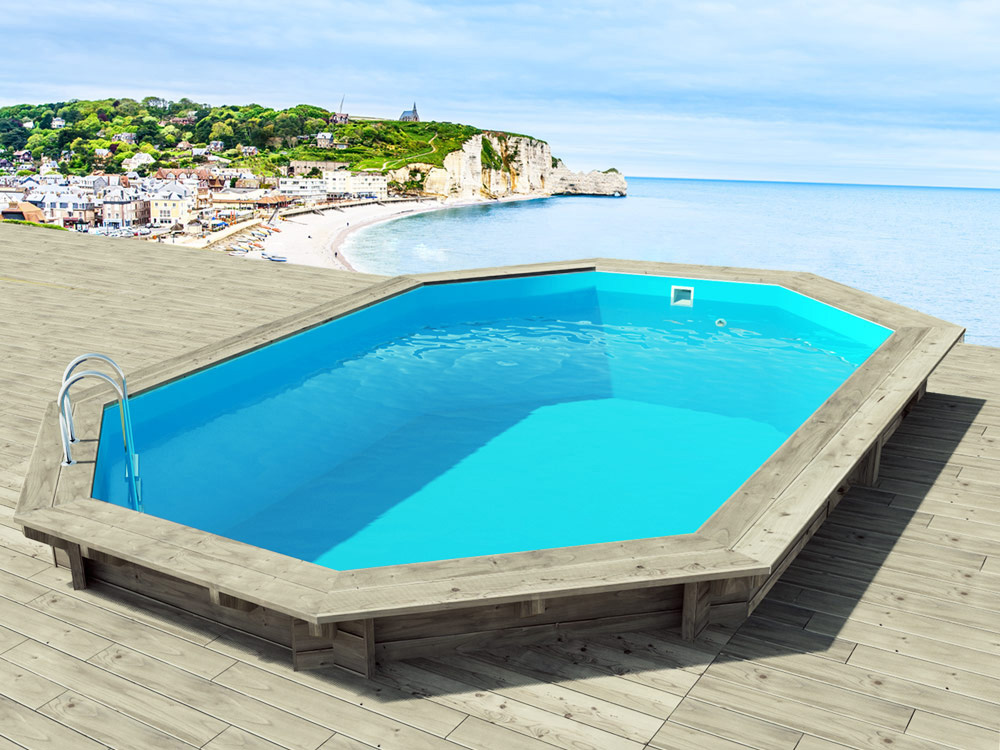 Piscine bois brazilia x x m 66186 for Produit piscine