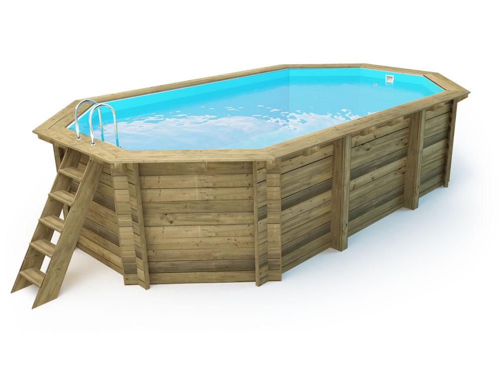 Piscine bois cancun x x m ebay for Habitat et jardin piscine bois
