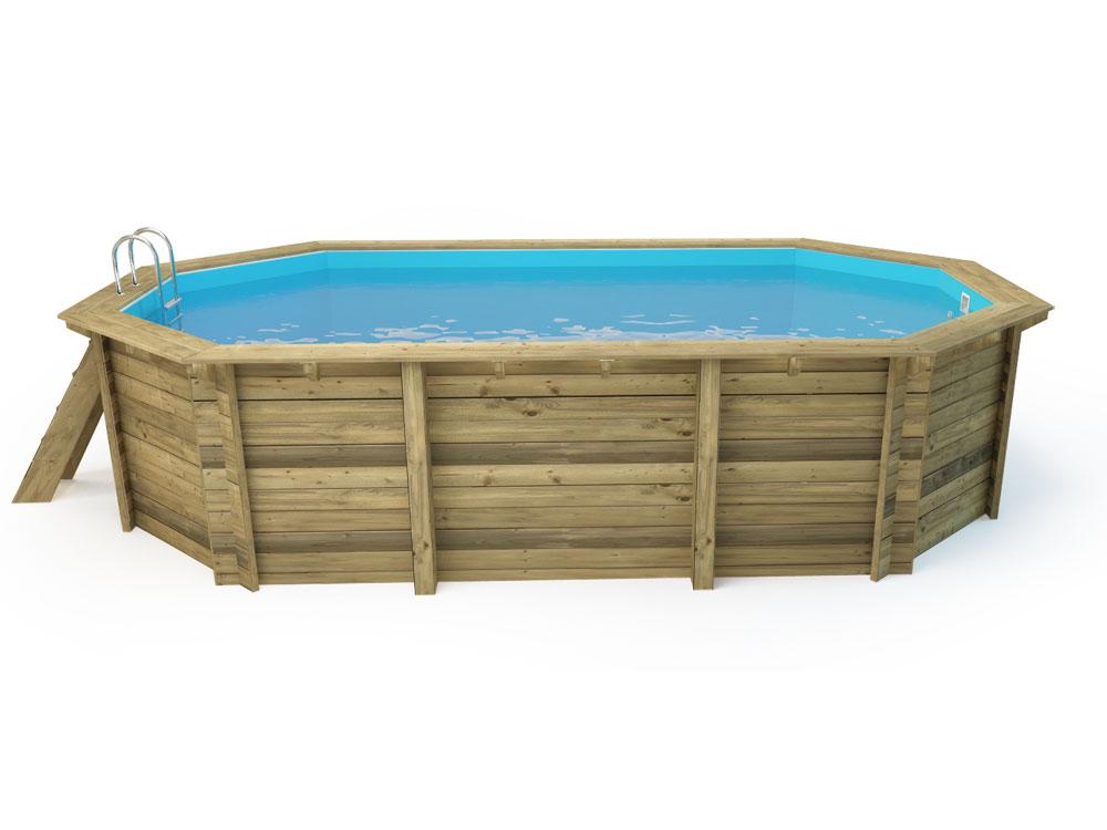 Piscine bois cancun x x m for Marque piscine bois