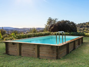 "Piscine bois en kit rectangle ""Sunrise "" - 8.20 x 5.20 x 1.44 m"