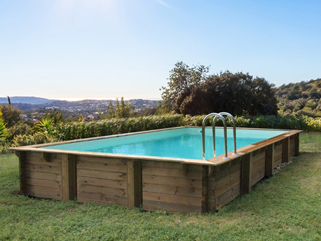 "Piscine bois en kit rectangle ""Oceano "" - 9.20 x 5.20 x 1.44 m"